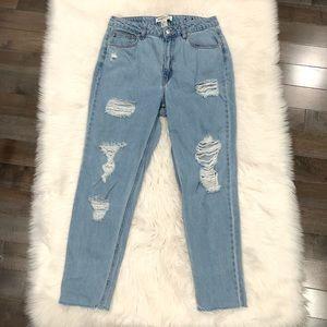 Denim - H&M Coachella Boyfriend Ripped Jeans Denim 10